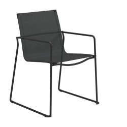 Gloster Asta Stacking Chair With Arms (meteor / Anthracite) large