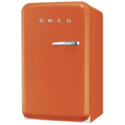 Smeg Single Door Refrigerator, Orange, 50's Retro Style