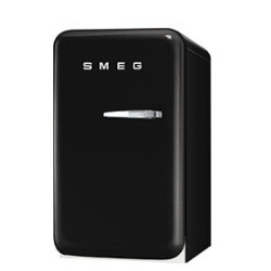 Smeg Single Door Refrigerator, Black, 50's Retro Style