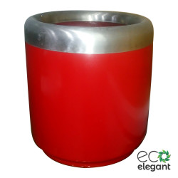 "Eco Elegant Frp Round Planter With Ss Ring 14""x14"" Red 5rnzsi0pfx.jpg"