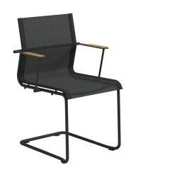 Gloster Sway Stacking Chair With Arms (meteor / Anthracite) large