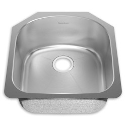 American Standard Prevoir Stainless Steel Undermount 19-7/8 Inch by 20-5/8 Inch 1-Bowl Kitchen Sink