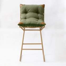 GulmoharLane ROSSO METAL BAR CHAIR WITH TIE-UP CUSHION GulmoharLane ROSSO METAL BAR CHAIR WITH TIE-UP CUSHION