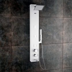 Jaaz Ariel White Shower Panel Ariel-White-600x600