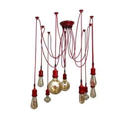 Fos Lighting Red Spider 9 Light Chandelier spider-red-ch9_2_