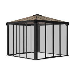Palram Applications Ledro 3000 Enclosed Gazebo Ledro_3000_Closed_Gazebo_Palram_Cutout.jpg