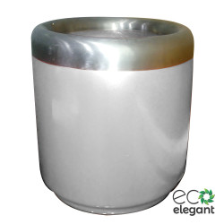 "Eco Elegant Frp Round Planter With Ss Ring 14""x14"" White x5u6iodl8b.jpg"