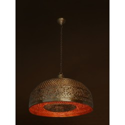 Fos Lighting Hand Pierced Brass Doom Single Light Big Hanging d21-bigcarvingtasla-hl1_1__1_3