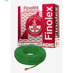 Finolex FINOLEX FLAME RETARDANT PVC INSULATED INDUSTRIAL CABLES 1100 V AS PER IS 694/1990 - Green - 1 sq. mm -- 90 M COIL Finolex FINOLEX FLAME RETARDANT PVC INSULATED INDUSTRIAL CABLES 1100 V AS PER IS 694/1990 - Green - 1 sq. mm -- 90 M COIL 10303053