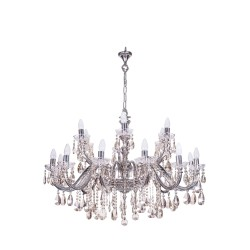 Fos Lighting Sz Silver 18 Light Brass Crystal Chandelier sz-brass-silverantq-honey-ch12_6_2__2