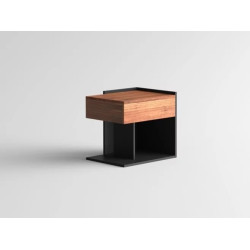 Nokta ESSIMETRI Side Table Walnut RIGHT Nokta ESSIMETRI Side Table Walnut RIGHT 02.004.01.00.02
