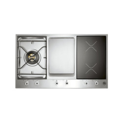 Bertazzoni 90 3-Segment Gas/Griddle/Induction Hob