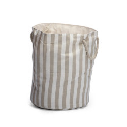 Andso STRYPE  BEIGE LAUNDRY BASKET Andso STRYPE  BEIGE LAUNDRY BASKET