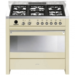 Smeg A1P-9 Cooker, 90x60 Cm, Opera, Cream, Gas Hobs,Energy Rating B