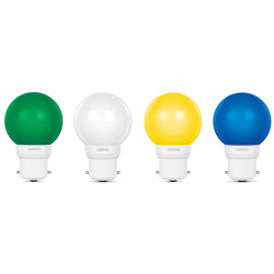 Luminous 0.5W Deco LED Lamp Multi-COLOR (Pack of 4) Luminous 0.5W Deco LED Lamp Multi-COLOR (Pack of 4) Deco