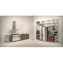 Valcucine Meccanica With Wallnut And Steel Doors