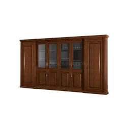 Boss's Cabin Caesar Office Cabinet & Book Case In Wood - Bcsc-98 IMAGE