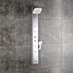 Jaaz Olive Steel Matte Shower Panel Olive-Steel-Matte-1-600x600