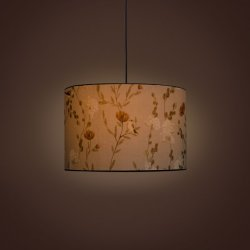 GulmoharLane Villa Cylindrical Pendant Lamp - Chrysanthemums & Sparrows Breeze GulmoharLane Villa Cylindrical Pendant Lamp - Chrysanthemums & Sparrows Breeze