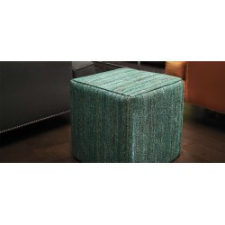 Anji Mountain Emerald Saree Pouf Square pouf-saree-emerald.jpg?v=1446341586