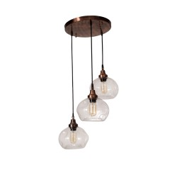 Fos Lighting 3 Drop Round Spot Glass Copper Pendant Light copper-borospot-8-hl3_1_