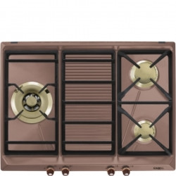 Smeg Hob, 70/75cm, Gas, Cortina, Bruss Burners, Copper, Copper Finishing Hob, 70/75 Cm, Gas, Cortina, Bruss Burners, Copper, Copper Finishing