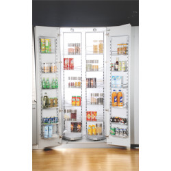Inox Double Pantry pull-out Unit