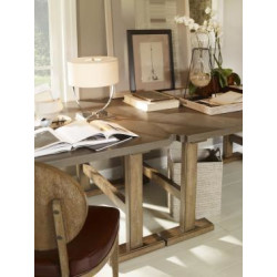 Century Furniture Whistler Low Work Table With Leather Top