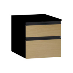 Vitra Memoria Black Sub-Module, 40 cm, Waved Oak