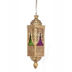 Fos Lighting Handcrafted Brass and Colored Glass Pendant Light-1 d4u-antq-hl1_2__1