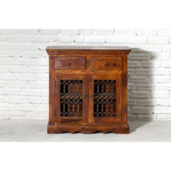 SNG Solid Wood Teak Jali Cabinet India