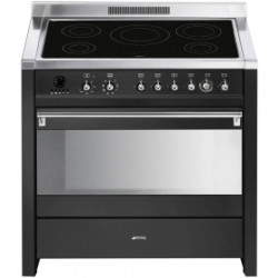 Smeg CS19IDA-7 Cooker, 90x60 Cm, Opera, Anthracite, Induction Hobs,Energy Rating B