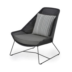 Abaca  All Weather Polypeel Chair With Loose Cushioned Seat