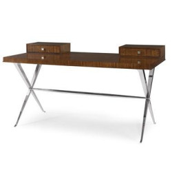 Century Furniture Desk With Metal Base 55H-762