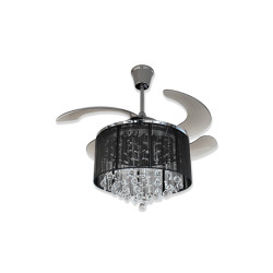 Fanzart Dew Drops Black – Crystal Ceiling Fan-1 dew-drops-black-fanzart-04