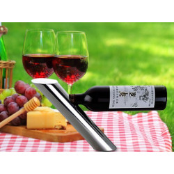 JustForDecor Wine Bottle Holder Unique Stand