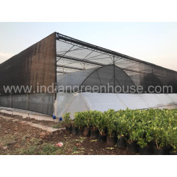 Indian Greenhouses Multispan Tunnel below Retractable shadenet IMAGE