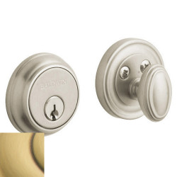 Baldwin Traditional Deadbolt-8031.060 060-satinbrassbrown