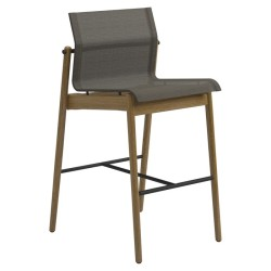 Gloster Sway Bar Chair - Buffed Teak (meteor / Anthracite) large