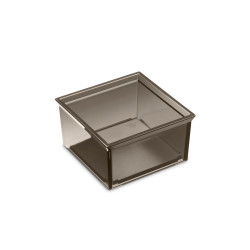Armani Roca Square Container With Lid For Profile Shelf And Furniture (Translucent Fumé Color)