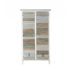 SNG Solid Wood White 3 Tone Cupboard India