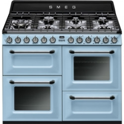 Smeg TR4110AZ Cooker, 110x60 Cm, Victoria, Pastel Blue, Gas Hobs, Energy Rating A