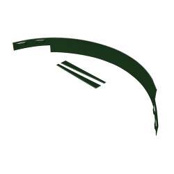 ACME Arboredge (14ga) – Green 635101_Tree_Ring_14GA_Painted_Green_SectionWithStakes_Main.jpg