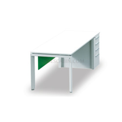 Boss's Cabin E-half 4 Ft. Work Desk With Pedestal - Bcth-10 1.2 IMAGE