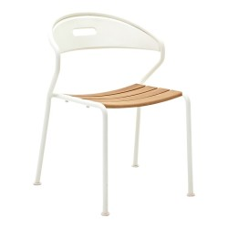 Gloster Curve Stacking Chair Buffed Teak (white) large