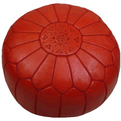 John Derian Moroccan Poufs - Red IMAGE