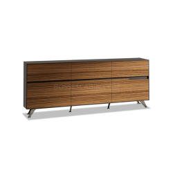 Boss's Cabin Sharp Office Credenza In Zebra Veneer - Bcssh-92 -1 IMAGE