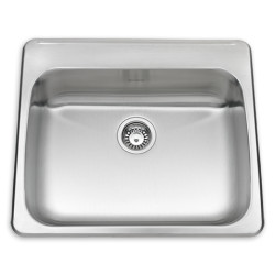 Ada Single Bowl 25 Inch 18 Gauge Kitchen Sink