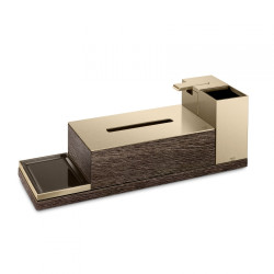 Armani Roca 4 Piece Accessories Set Including Soap Dispenser, Toothbrush Holder, Tissue Box Holder, Soap Dish And Tray