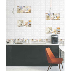 Glass Square Kitchen Wall Tiles